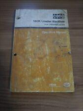 Case 580k Backhoe Loader Original Operators Manual 9 15980
