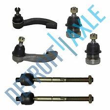Brand New 6pc Kit - 2 Lower Ball Joint + 2 Inner & 2 Outer Tie Rods for Civic/EL