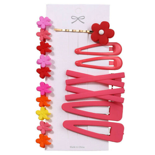 17Pcs//Pack Candy Color Hair Clips Bobby Pins Accessories BB Hairpins Barrettes