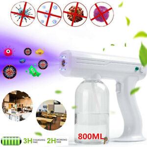 Spray Gun Blue Light Nano Steam Sprayer Fogging Home Office Car Disinfection US