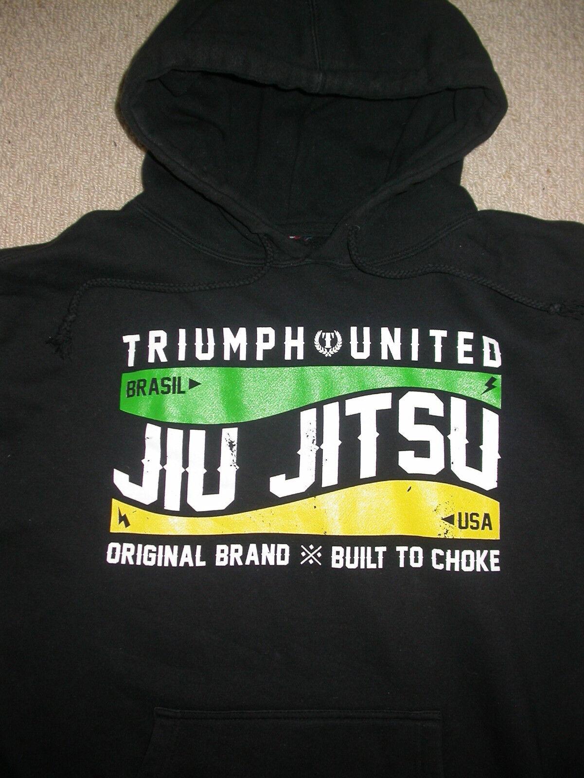 TRIUMPH UNITED HOODY HOODED SWEATSHIRT XL EXTRA LARGE  UFC MMA BJJ JIU JITSU GYM