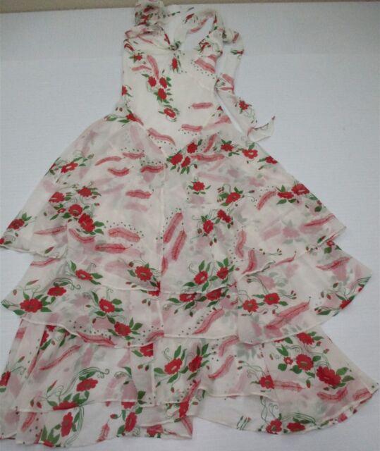 4336fc2d95 CELIA BIRTWELL EXPRESS  DR317 Women s Size 6 100% Silk Classy White Floral  Dress