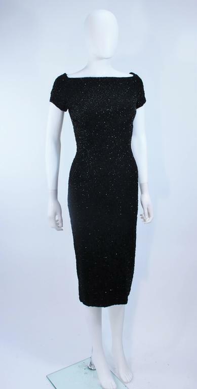 CEIL CHAPMAN Black Beaded Cocktail Dress Size 2 - image 8