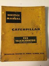 Caterpillar Cat 922 63a Gas Front End Wheel Loader Oe Service Shop Repair Manual