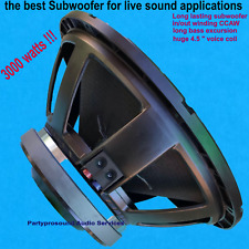 """replacement subwoofer RCF LF18X451 18"""" 3000 Watts Peak! 8 ohms just the  BEST!!"""