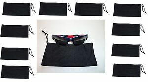 10-Black-Soft-Cleaning-Fiber-Cloth-Sunglasses-Lens-Eye-Vision-Carry-Case-Pouch