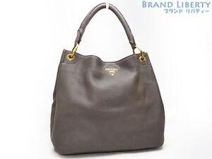 dbb1a68387d7 ... order image is loading auth prada hobo leathe one shoulder bag tote  ef843 6c8c9 ...