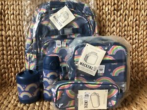 Pottery Barn Kids Large Backpack Rainbow Water Bottle
