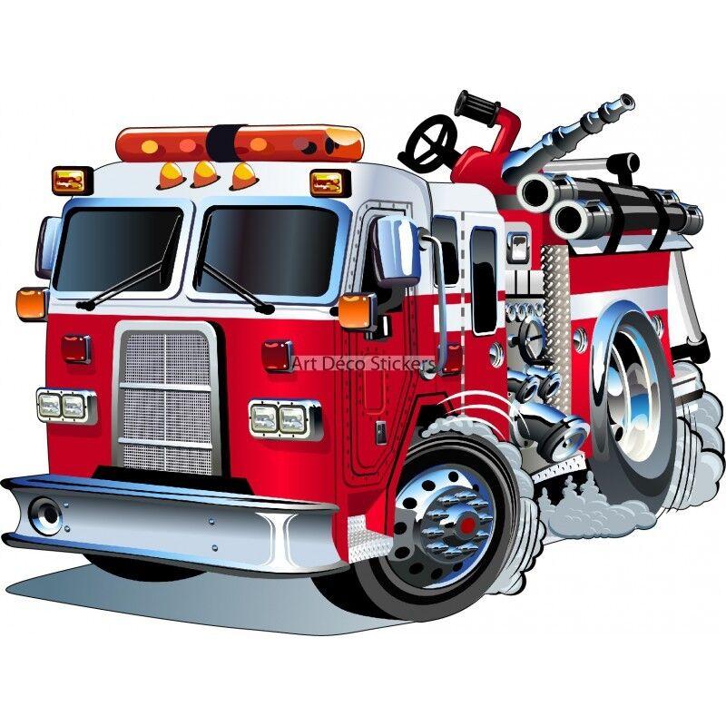Adesivo Adesivo Adesivo bambino Camion di Pompiere 3548 ba4cc1