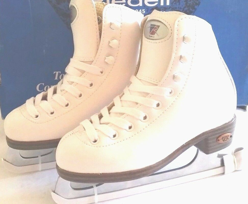 Brand New Riedell Ice Figure S   Model 33 White  For Youth Different Sizes  not to be missed!