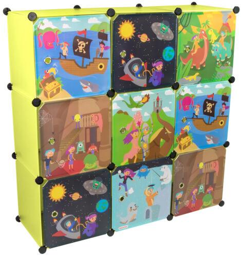 Kleiderschrank Kinderzimmer 9 Module Kinderkleiderschrank DIY Kinderschrank Grün