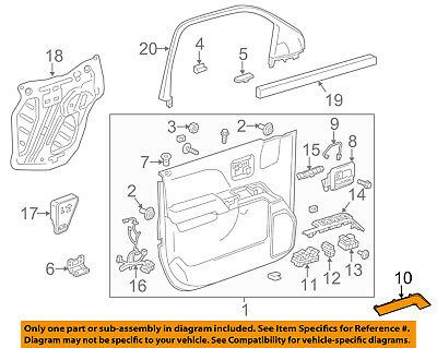 GM OEM Interior-Rear Door-Armrest Left 15091856