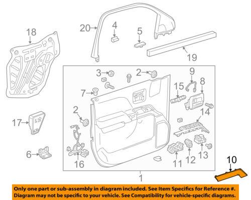 GM OEM Front Door-Trim Molding Left 23291504