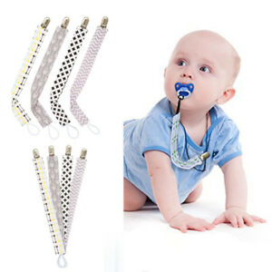 Kids Baby Boy Girl Dummy Pacifier Soother Nipple Strap Chain Clip Holder Kit
