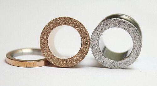 4-20mm Frosted Glitter Rose Gold Steel Earring Hollow Tunnels Ear Plugs Screw On