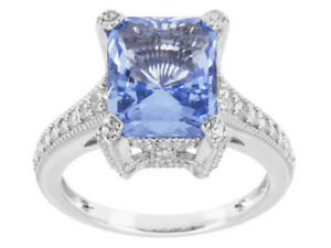 Size-8-Bella-Luce-5-15ct-Blue-amp-White-Diamond-Simulant-Sterling-Silver-Ring