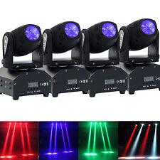 4PCS 60W RGBW LED DMX 11/13CH Stage Mini Moving Head Light Beam DJ Dosco Party