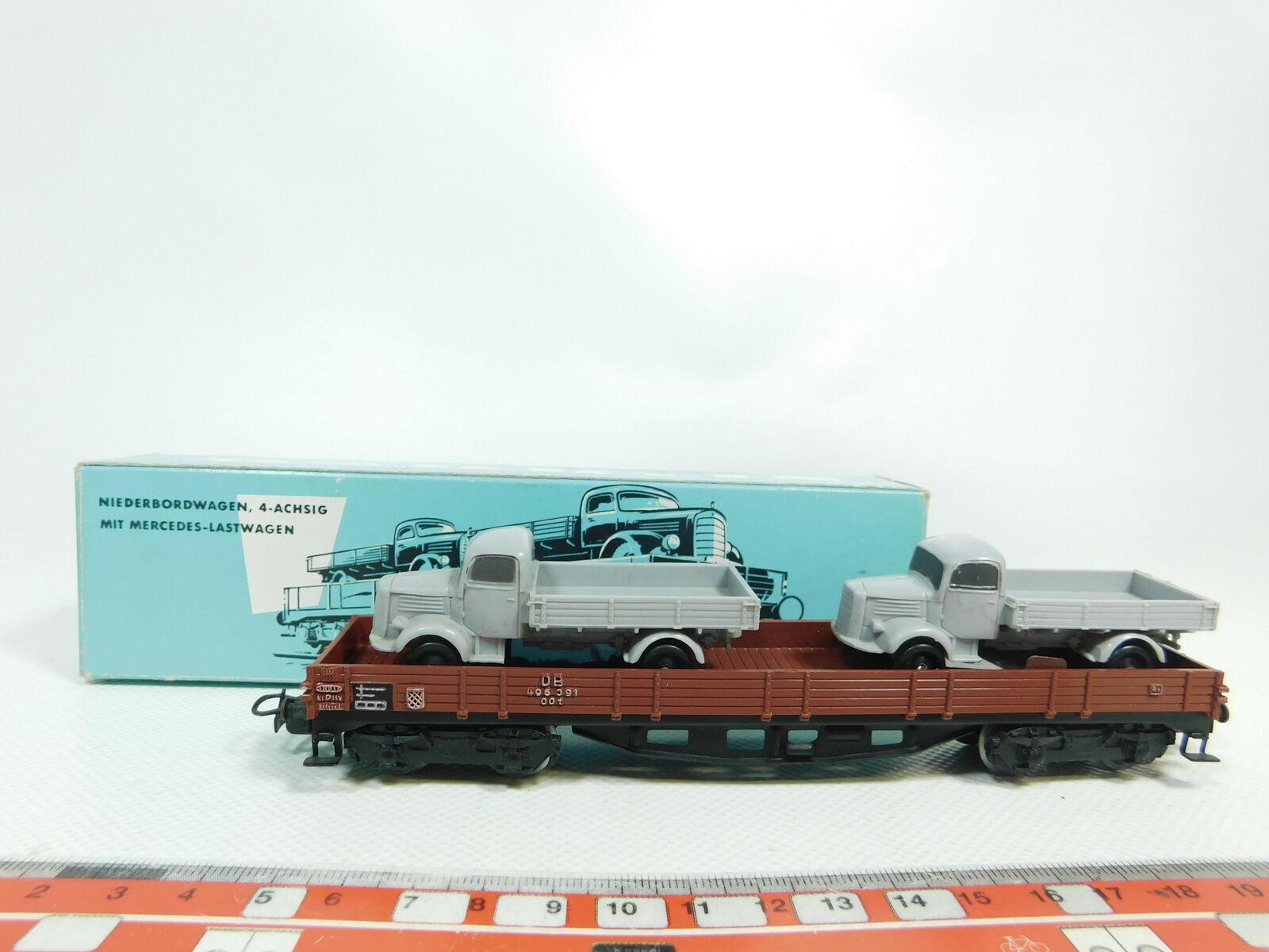 Bj342-0, 5    h0/ac 4515 bassa bordo Carro DB CON MERCEDES-camion S.G. + OVP