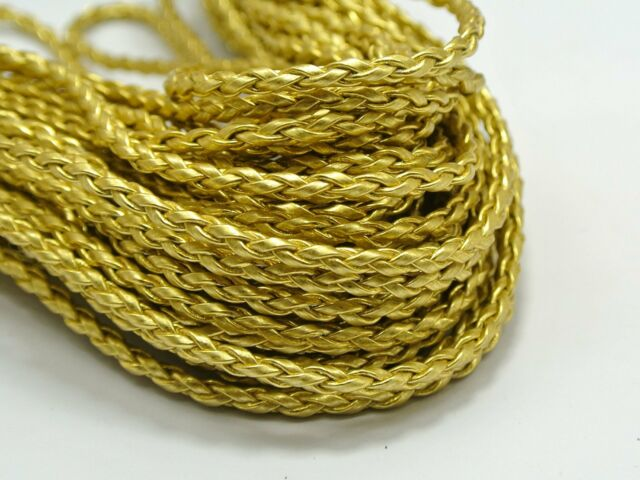 32.8 Feet Gold BOLO Braided Leatheroid String Jewelry Cord 3mm