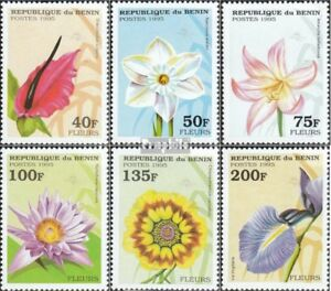 Never Hinged 1995 Flowers Stamps Benin 697-702 Unmounted Mint Nature & Plants