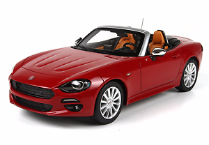 Bbr BBRC 1815rp-fiat 124 spider red passione 1 18