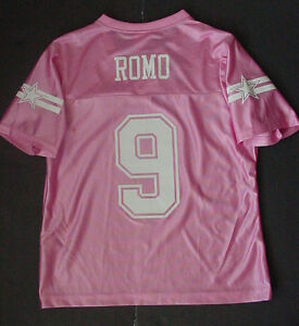 half off bc59c a11ee Details about Tony Romo 9 Jersey Women's Dallas Cowboys Pink Sz M NWT
