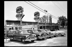 1950s Buick Car Dealer PHOTO Used Cars Lot Chevy GM ...1950s Cars For Sale Ebay