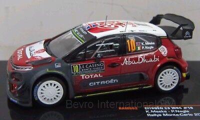 IXO Citroen C3 Rally Monte Carlo 2018 K MEEKE Diecast 1:43 RAM662