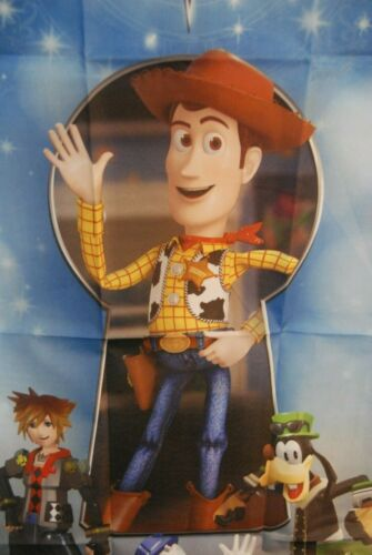 """Kingdom Hearts 3 KH3 Fabric Poster Toy Story GameStop Preorder Exclusive 27/""""x41/"""""""