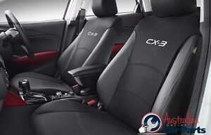 MAZDA-CX3-Front-Pair-of-Seat-Covers-set-New-Genuine-2015-accessories-DK11ACSCF