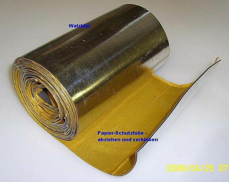 Universal walzblei-folie 100 x 20,0 cm 1,0 mm Sound Predection Radiation