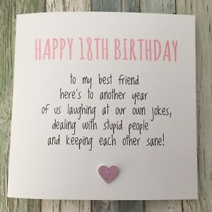 Image Is Loading FUNNY BEST FRIEND 18TH BIRTHDAY CARD BESTIE HUMOUR