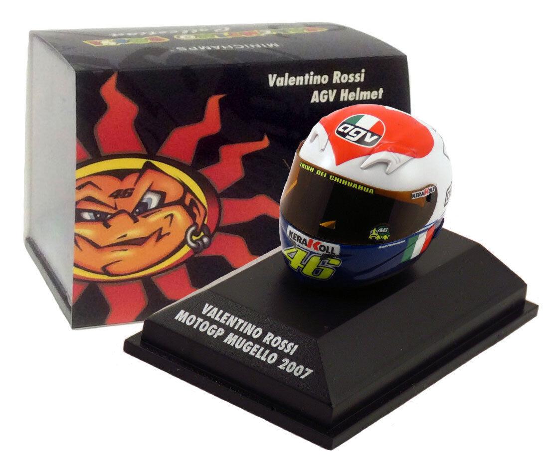 Minichamps valentino rossi casque motogp mugello échelle 2007 1 8