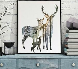 Poster-Canvas-Print-Minimalist-Abstract-Animals-Wall-Art-Modern-Home-Decorations