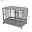 thumbnail 7 - 42-034-Heavy-Duty-Dog-Cage-Crate-Kennel-Metal-Pet-Playpen-Portable-with-Tray-Sliver