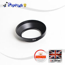 52mm  Wide Angle Screw-On Mount Metal Lens Hood Canon Nikon Sony Olympus Pentax