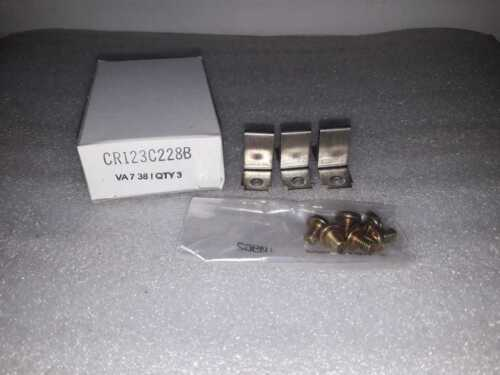 GE CR123C228B OVERLOAD HEATER MOTOR STARTER 3PCS IN BOX COMPLETE BOX SALE