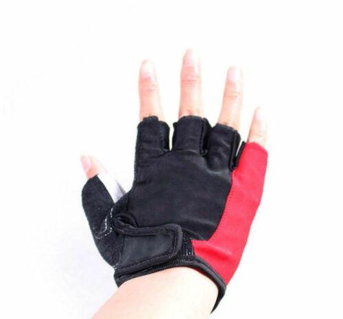 1 Pair Sport Half Finger Gloves Non-slip Breathable Friction Pad M-XL For Biking