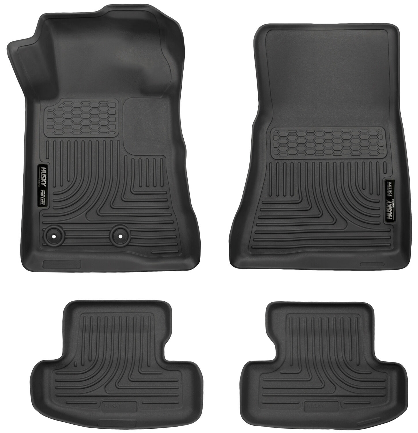 Husky Liners 2015 2017 Ford Mustang Automatic Black Floor