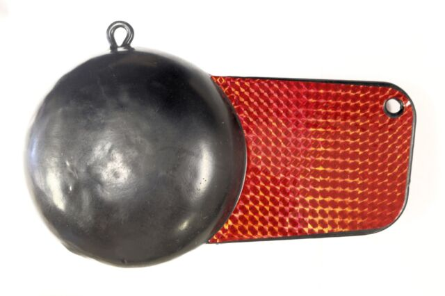 Extreme Max 3006.6726 Coated Ball-With-Fin Downrigger Weight  6 Lb.
