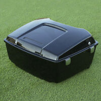 Glossy Black King Tour Pak Pack Trunk For Harley Touring Street Glide 1997-2013