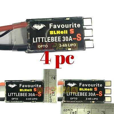 FVT LittleBee 30A 2-6S BLHeli_S ESC for FPV Quad Race Oneshot125 Multishot 4pc