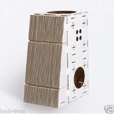 Cat Activity Centre Scratcher Kitten Cardboard Play Box Toy Scratching Post