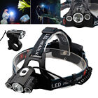 30000Lumens CREE 3 x T6 LED Shadowhawk  Headlamp 18650 Headlight Torch Head Lamp