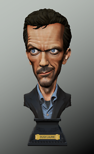 Golem Creation HUGH LAURIE  Dr HOUSE M.D. BUST Statue VERY RARE LIMITED