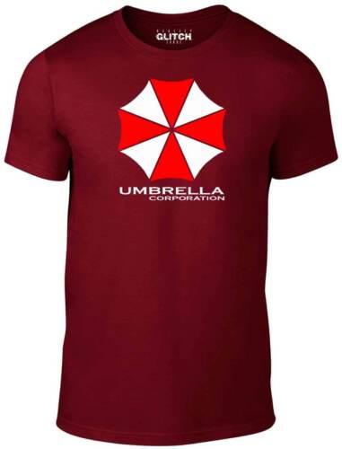 GIFT ZOMBIE HORROR  SC-FI MOVIE FILM TOP Men/'s Umbrella Corporation T-Shirt