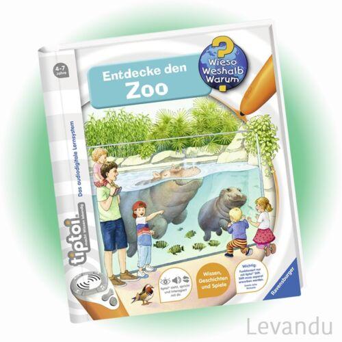 RAVENSBURGER tiptoi® Buch - Wieso Weshalb Warum? - Entdecke den Zoo - NEU