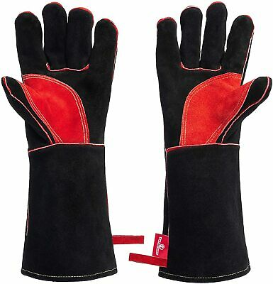 HereToGear Fireproof Leather Gloves Fire. Great for Blacksmith Tools 16 IN