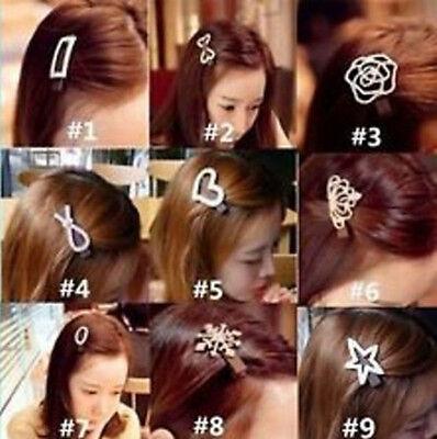 cute girl Elegant Women Crystal Rhinestone Hair Clips Barrette Hairpin wholesale