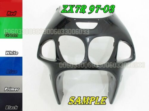 ABS Front Head Top Fairing for Kawasaki Ninja ZX7R 97 98 99 03 33#G